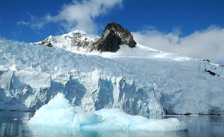Der antarktische Eisschild besteht tatsächlich aus zwei Teilen, einem westlichen und einem