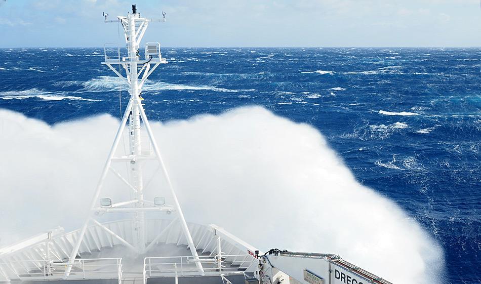 Das Südpolarmeer ist ein wildes Gebiet, um Forschung zu betreiben und die Konstruktion der Schiffe sollte dem Rechnung tragen. (Photo: MNF/ Stewart Wilde)