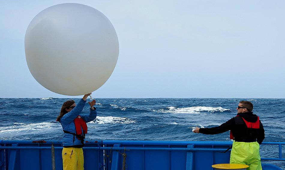 Die Nutzung von Wetterballons hat eine lange Tradition in der Meteorologie. (Photo: MNF/ Stewart Wilde)